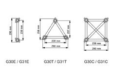G30 Tubes diam. 50x2 entraxe : 239mm