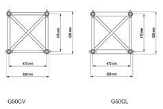 G50 Tubes diam. 50x4 entraxe : 470mm