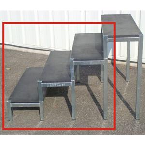 escalier 3 marches sans garde corps europodium shop. Black Bedroom Furniture Sets. Home Design Ideas