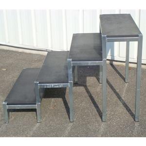 escalier 4 marches sans garde corps europodium shop. Black Bedroom Furniture Sets. Home Design Ideas